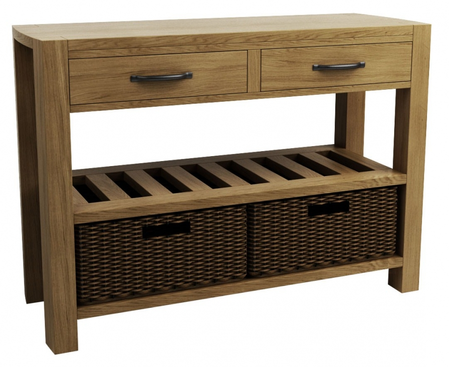 console tables with storage baskets home design 2017