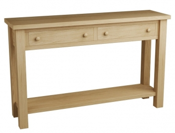 Eclipse 2 drawer console table qualita - Goliath console table ...